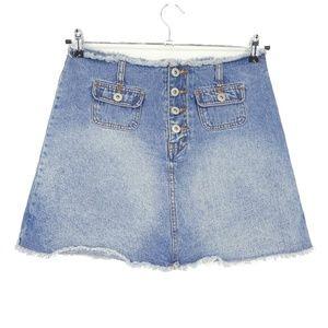 Vintage LA Blues Raw Hem Denim Skort Skirt